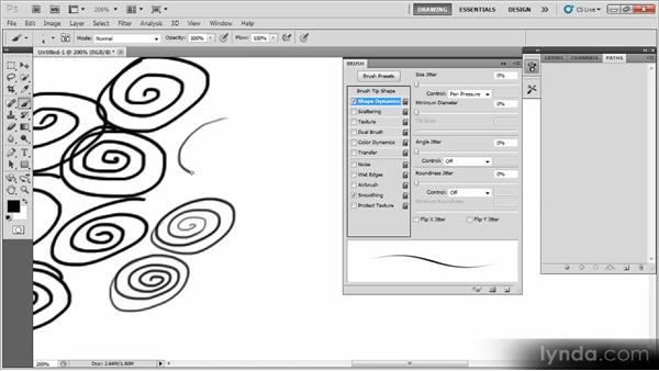 Creating a fine drawing pen: Creating a Digital Illustration with Photoshop CS5