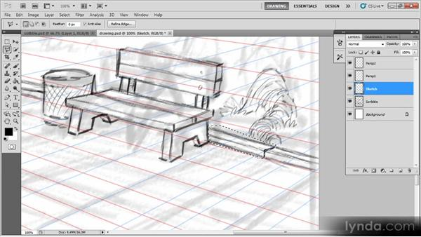 Sketching the background: Creating a Digital Illustration with Photoshop CS5