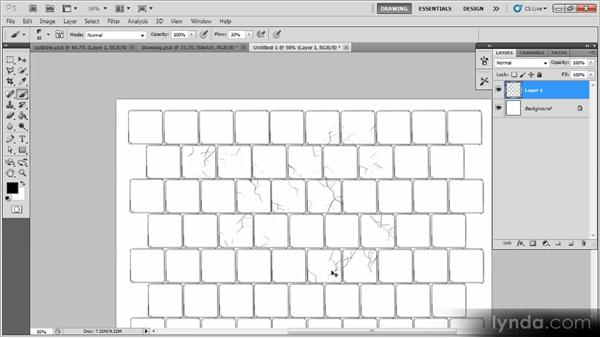 Adding the pavement: Creating a Digital Illustration with Photoshop CS5