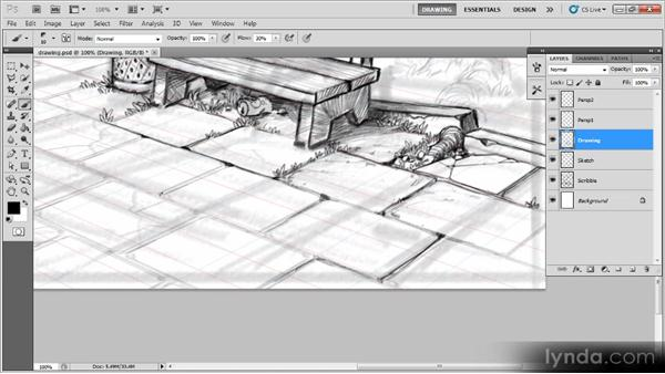 Adding detail to the pavement: Creating a Digital Illustration with Photoshop CS5