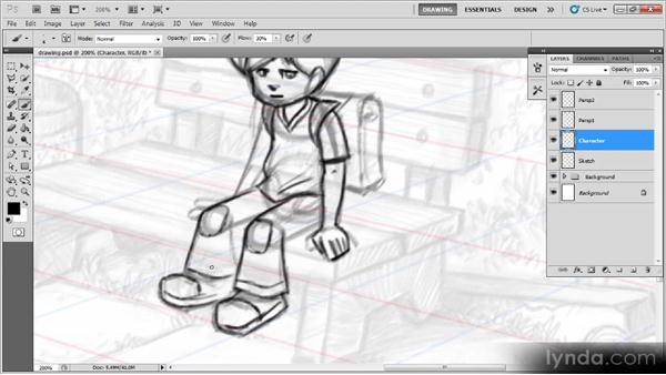 Drawing the character: Creating a Digital Illustration with Photoshop CS5