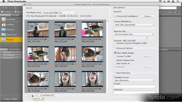 Importing images from a camera: Up and Running with Photoshop CS6