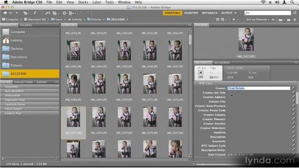 Using Adobe Bridge: Up and Running with Photoshop CS6