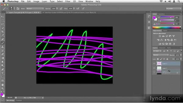 Working with layers: Up and Running with Photoshop CS6