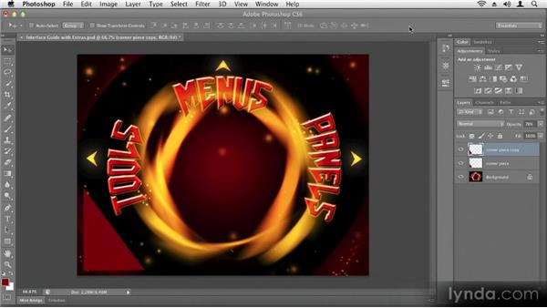 Performing basic transformations: Up and Running with Photoshop CS6