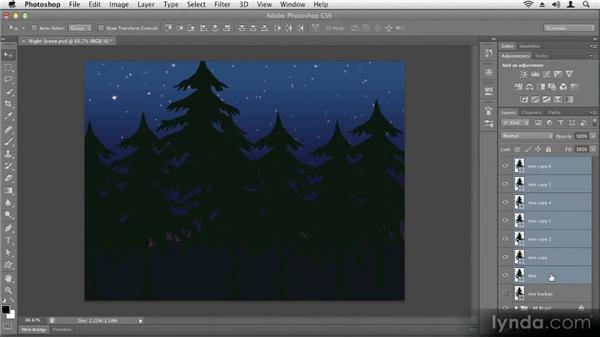Moving and aligning objects: Up and Running with Photoshop CS6