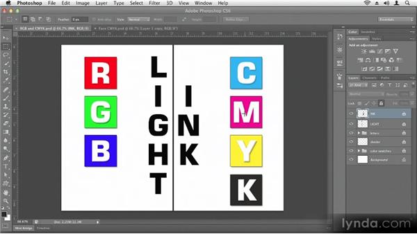 Understanding color modes: Up and Running with Photoshop CS6