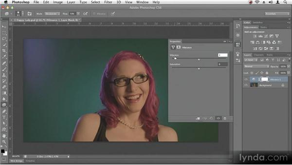 Using adjustment layers: Up and Running with Photoshop CS6