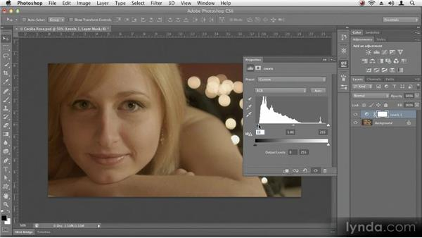 Reading a histogram: Up and Running with Photoshop CS6