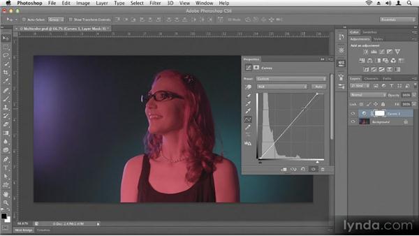 Adjusting exposure (brightness): Up and Running with Photoshop CS6