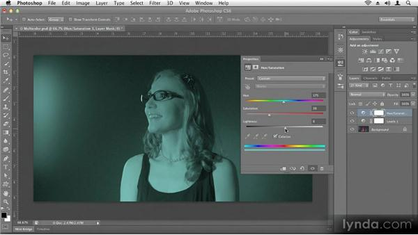 Adjusting colors selectively: Up and Running with Photoshop CS6
