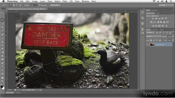 Intro to selecting: Up and Running with Photoshop CS6