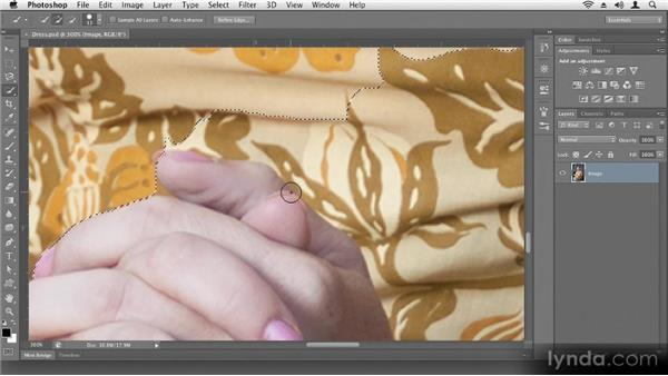 Making quick selections: Up and Running with Photoshop CS6
