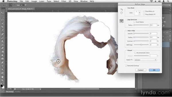Refining selections: Up and Running with Photoshop CS6