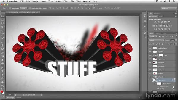 Adjusting applied effects: Up and Running with Photoshop CS6
