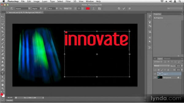 Creating text: Up and Running with Photoshop CS6