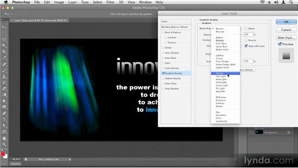 Using layer styles: Up and Running with Photoshop CS6