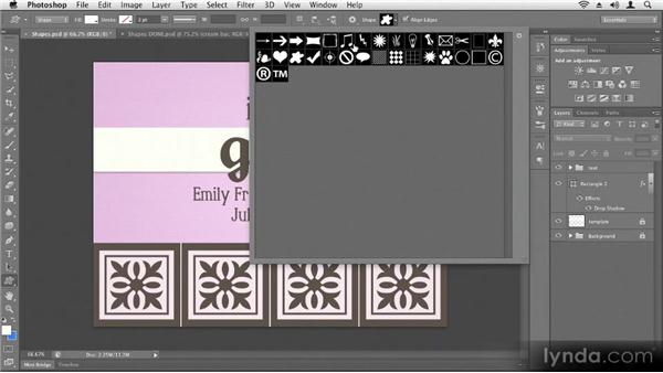 Creating vector shapes: Up and Running with Photoshop CS6