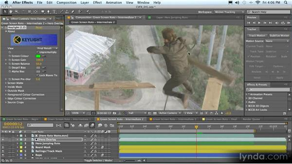 Roto-painting mattes: Advanced Compositing, Tracking, and Roto Techniques with After Effects