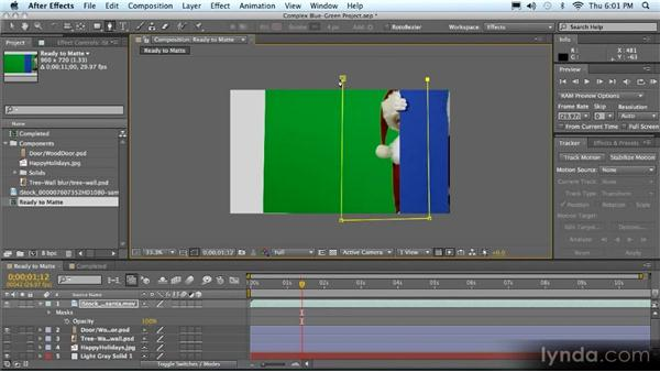 Keying both green and blue in a composite: Advanced Compositing, Tracking, and Roto Techniques with After Effects