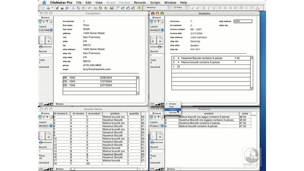 creating value lists from fields: FileMaker Pro 7 Essential Training