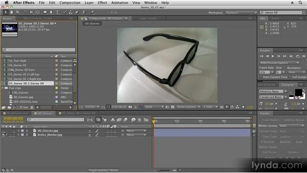 Other options for 3D stereoscopy: Stereoscopic 3D Motion Graphics with After Effects