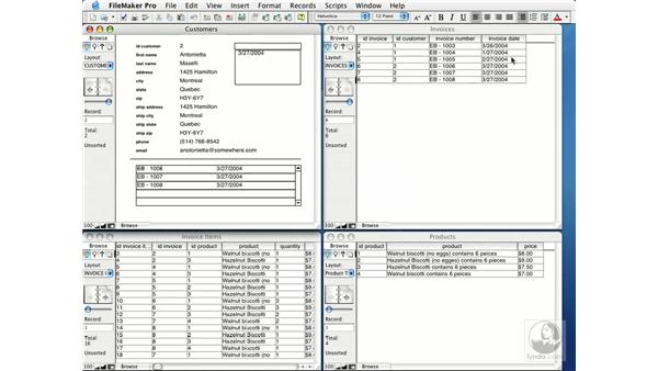 creating value lists from related fields: FileMaker Pro 7 Essential Training