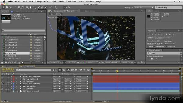 Blend modes: Stereoscopic 3D Motion Graphics with After Effects