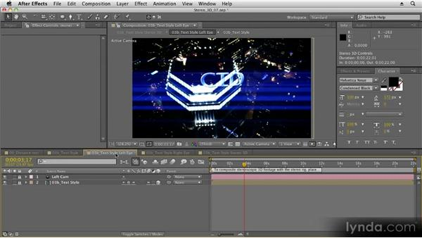 Setting up a stereo 3D rig: Stereoscopic 3D Motion Graphics with After Effects