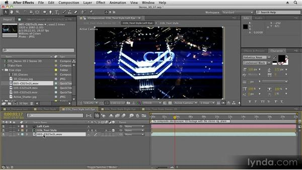 Compositing stereo 3D footage: Stereoscopic 3D Motion Graphics with After Effects
