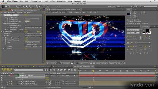Adjusting depth settings: Stereoscopic 3D Motion Graphics with After Effects