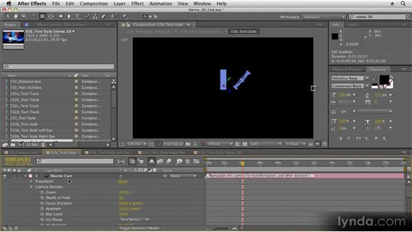 Applying finishing touches: Stereoscopic 3D Motion Graphics with After Effects