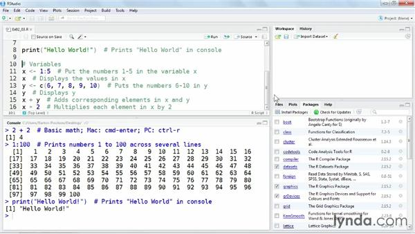 Getting started with the R environment: Up and Running with R