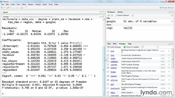 Computing a regression: Up and Running with R