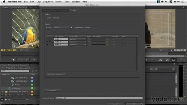 Creating a new sequence: Premiere Pro: Creative Cloud Updates