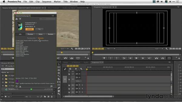 Finding new technology with the Adobe Exchange panel: Premiere Pro: Creative Cloud Updates
