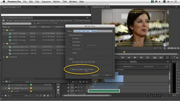 Merging and syncing clips with audio sync: Premiere Pro: Creative Cloud Updates