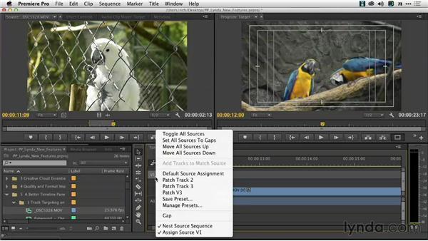 Source patching presets: Premiere Pro: Creative Cloud Updates