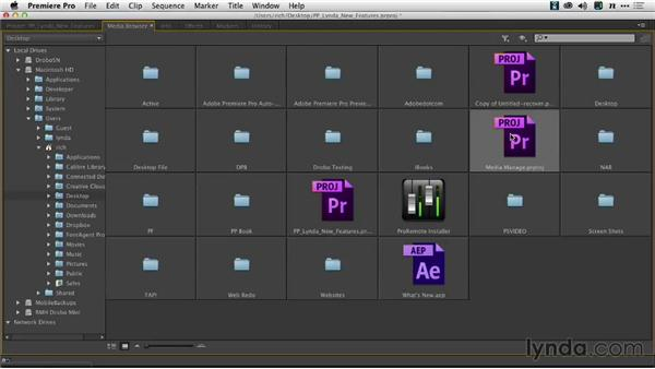 Displaying the project bin structure in the Media Browser: Premiere Pro: Creative Cloud Updates