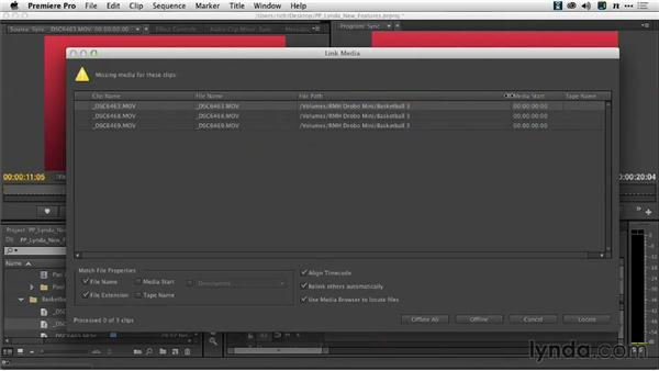 Using the Link and Locate dialogs: Premiere Pro: Creative Cloud Updates