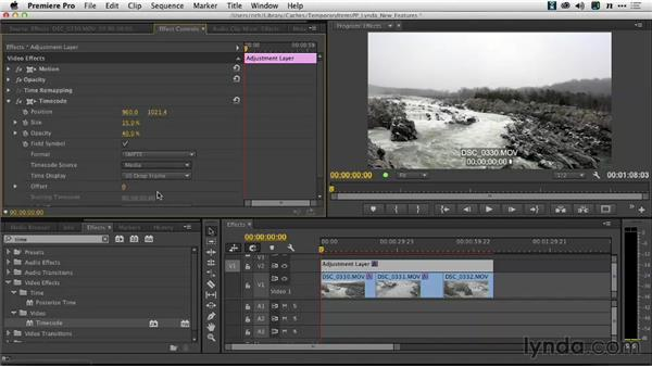 Creating review copies with the Clip Name and Timecode effects: Premiere Pro: Creative Cloud Updates
