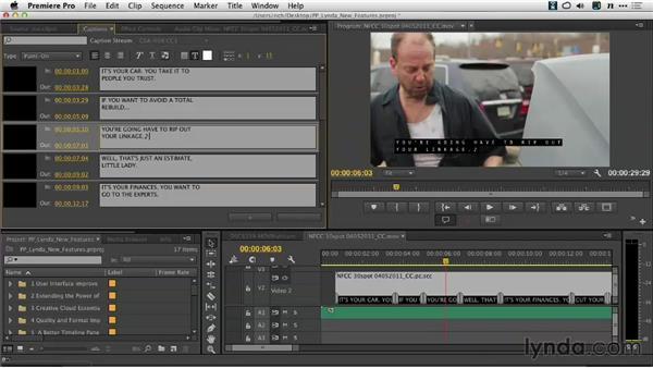 Adjusting the caption display: Premiere Pro: Creative Cloud Updates
