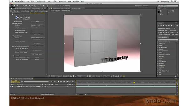 CINEMA 4D Lite: After Effects: Creative Cloud Updates