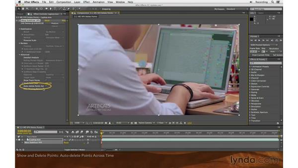 Showing and deleting points: After Effects: Creative Cloud Updates