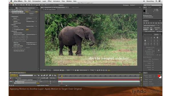 Applying motion to a target: After Effects: Creative Cloud Updates