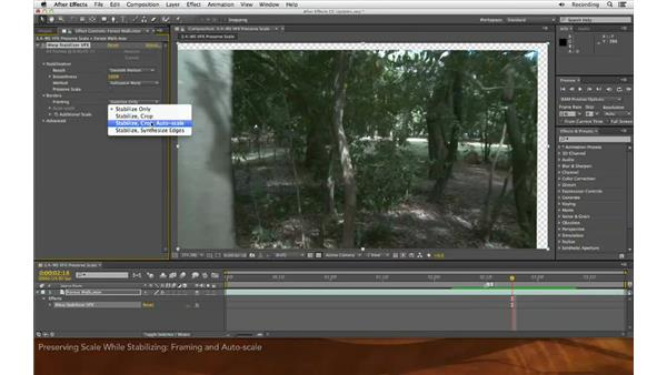 Preserving scale while stabilizing: After Effects: Creative Cloud Updates