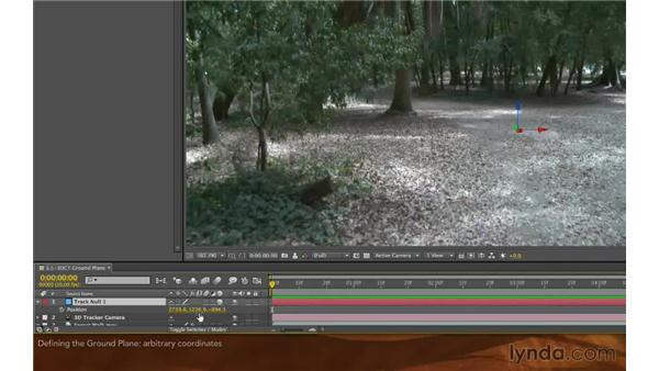 Defining the ground plane: After Effects: Creative Cloud Updates