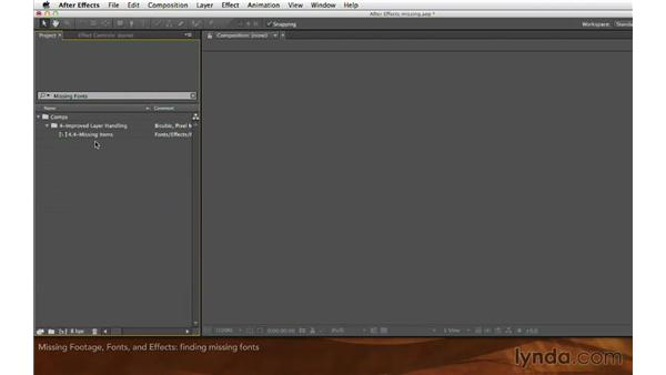 Missing footage, fonts, and effects: After Effects: Creative Cloud Updates