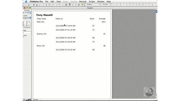 building sub-summary reports: FileMaker Pro 7 Essential Training