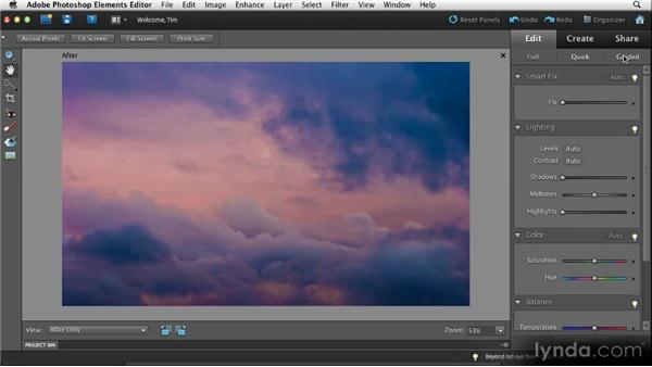 Elements Editor overview: Quick Fixes with Photoshop Elements 10